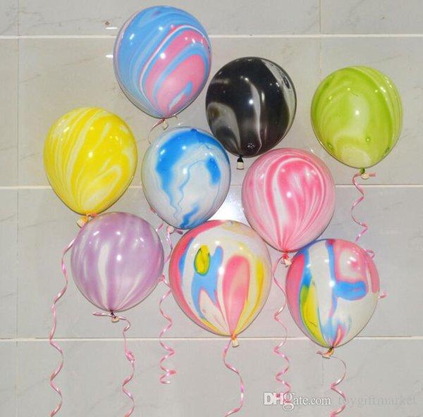 100pcs / set 12inch coloré Creative marbre Agate Latex Ballons de fête d'anniversaire Décorations baby shower Drop Shipping Réceptions