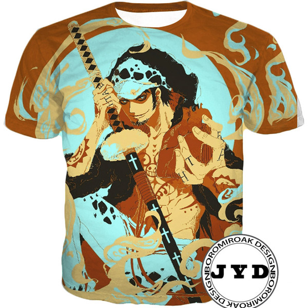 De Manga En Camiseta Pieza Dibujos Anime Una Hombre Luffy Corta Impresiones 3d Compre Para Camisetas iukXPOZwT