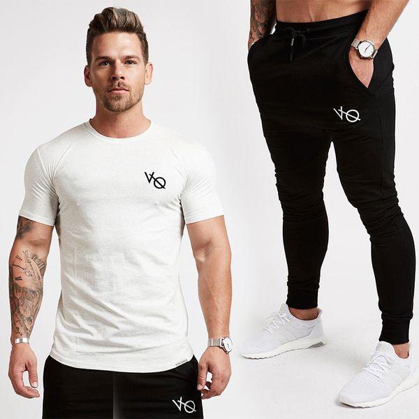 Vanquish 2018 New Gyms Mens Fitness Fashion Brand Joggers Sweatpants Bottom Snapback Pants Men Casual Suit C19041801
