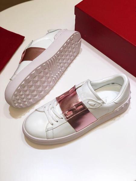Cheap luxury designer men's casual shoes cheap best high quality ladies graffiti fashion sneakers party platform shoes velvet Chaussjt190612