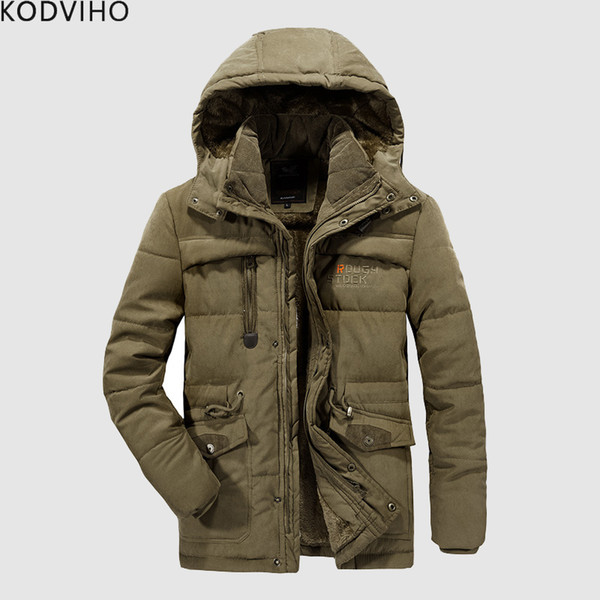Winter Jacket Men Warm Fleece Parka Plus Size 6XL 7XL 8XL Jackets Coat Fur Hooded Windbreaker Overcoat Mens Thick Coat