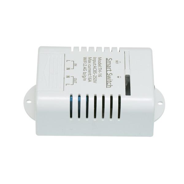 2019 eWeLink TH-16 Wireless-LAN-Schalter 16A / 3500W Temperaturüberwachung Smart Switch Home Automation Kit kompatibel für Android und