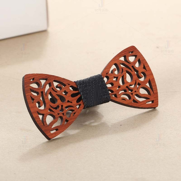 UK Men/'s Boy Wooden Butterfly Bow Tie Party Hollow out Wood Bowtie Handmade Tie