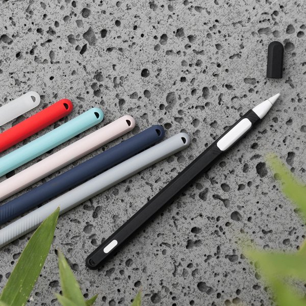 Soft Silicone For Apple Ipad Pro Pencil 2 Case For iPad Pencil 2nd Generation Cap Tip Cover Holder Tablet Touch Pen Stylus Pouch Sleeve