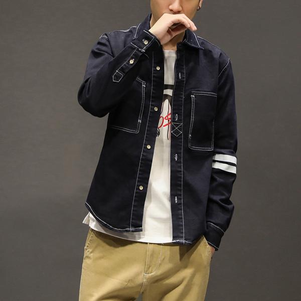 Veste de style pour hommes neufs, édition coréenne, chemise de loisirs pour homme, vêtements en jean usés XZZ-RY2206