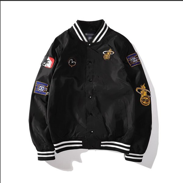 Mens with logo windproof brand jackets fashion Baseball uniform new selling sport jacket classic embroidery quality couple casual wears