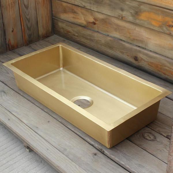 top popular brass bar sink smooth surface brass kitchen sink undermount kitchen sink 2021