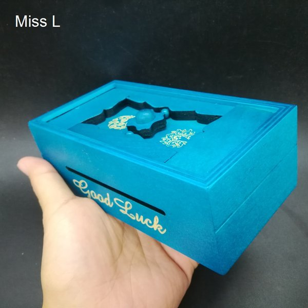 Fun Gift Box Secret Puzzle Box Wooden Brainteaser Mind Brain Game IQ Magic Model Money Box