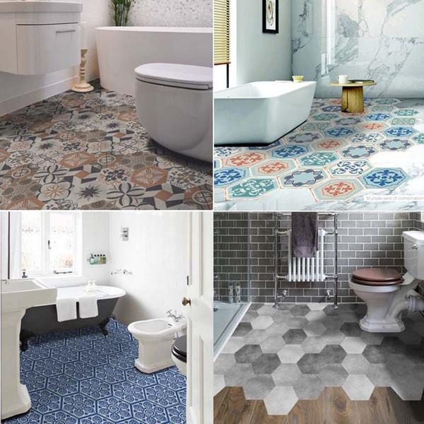 28 design mosaic tile floor sticker self adhesive waterproof pvc rh m dhgate com