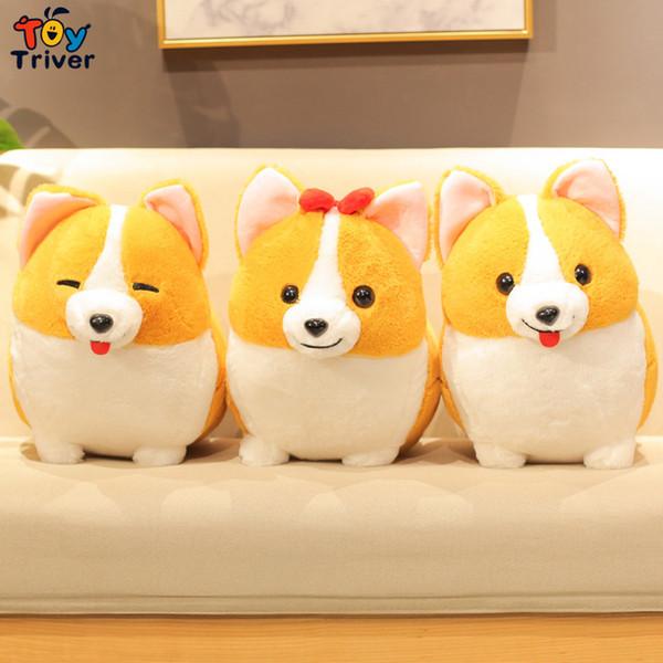 Plush Short Leg Corgi Pembroke Dog Toy Triver Stuffed Animal Doll Puppy Kids Baby Birthday Gift Home Shop Decoration Craft