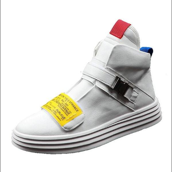 Yeni Deri Ayak Bileği Çizmeler Erkekler İngiliz Tarzı Kayış Erkekler Çizmeler Fermuar Erkek Martin Çizmeler Yüksek Kesim Toka Erkekler Rahat Ayakkabılar H414