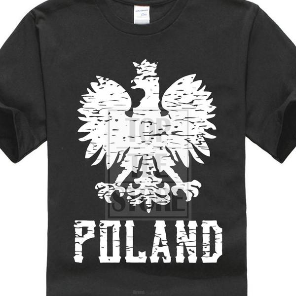 T-shirt semplice e accogliente di marca Polonia T-shirt bianca Aquila T-shirt di cotone T-shirt a maniche corte firmate