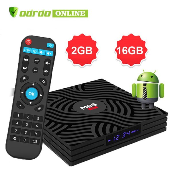 Factory OEM M9S W6 Android 7.1 Amlogic S905W Quad Core TV BOX 2GB 16GB Suppot H.265 UHD 4K 2.4GHz WiFi Set-top box Better A95X T95Q