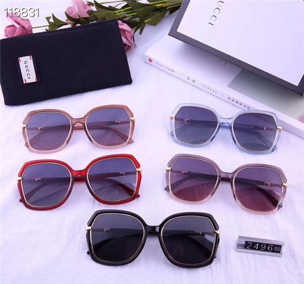 2019 Moda venda quente marca feminina maré luz polarizada óculos de sol 5 cores pode escolher moldura grande moldura de lente de plástico