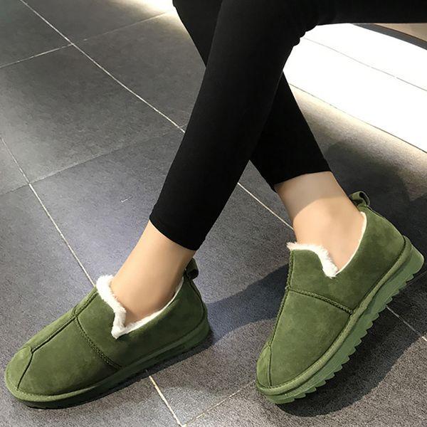 winter boots women plush platform boots warm rubber nonslip short female 2020 snow fashion