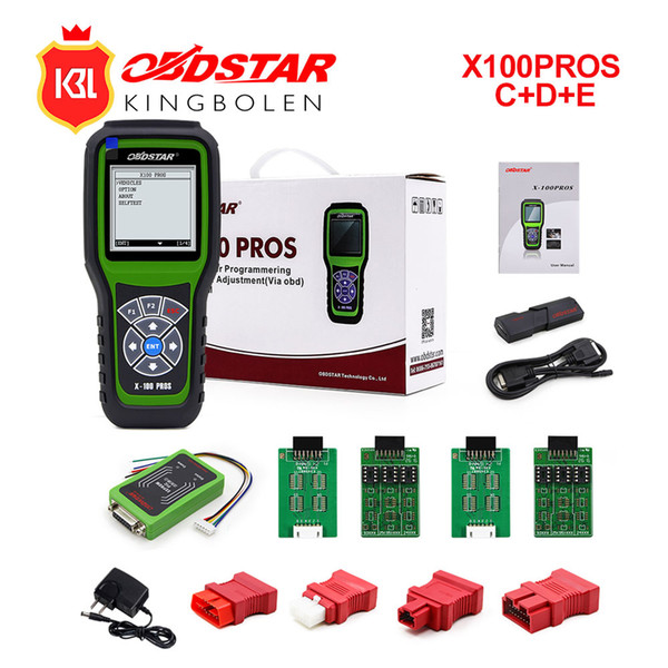 OBDStar Auto Key Programmer X100 PROS C+D+E model x-100 pros Key Programming Tool Support for Immobilizer +Odometer correction