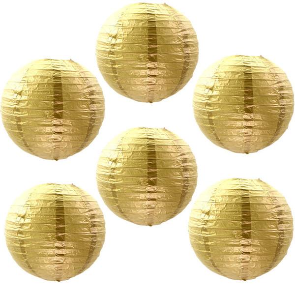 Großhandel Gold Silber Papierlaternen Runde Falten Handwerk Papier Lampenschirm Hochzeit Verzieren Bühnendekoration Requisiten Großhandel Zc0295 Von