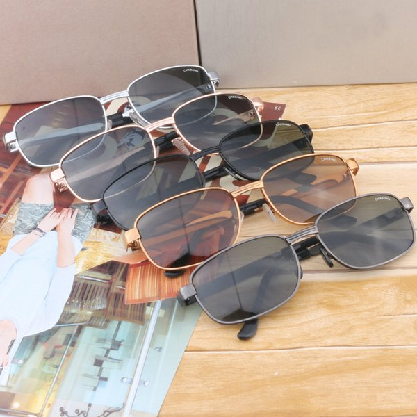 Glass Lens Sunglasses Man And Women Sun Glasses Driver Fishing Eyewear Big Metal Frame Simple Multi Function 4 8ml D1