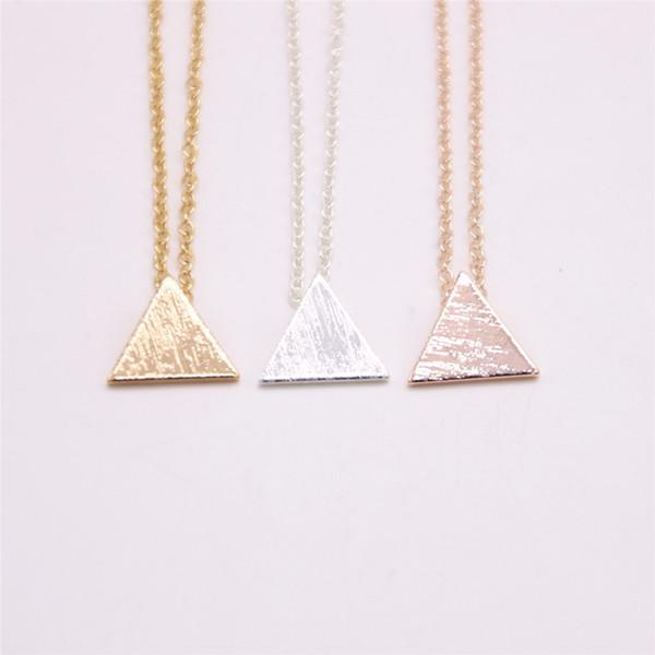 Colgante de triángulo equilátero para niñas. Geometría matemática. Colgante, para mujeres.