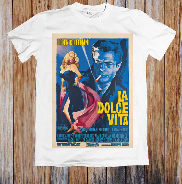 La Dolce Vita 1960's Retro Movie Poster Unisex T-Short High Quality Custom Printed Tops Hipster Tees 2018 fashion T-Shirts