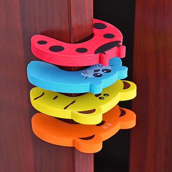 best selling Door Stopper EVA Door Handle Stopper Animal Doorknob Wall Protection Children Savor Safety Guard Finger Protect Door Stops 5 Design DW4123