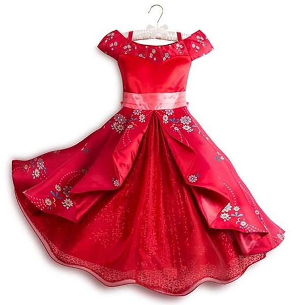 Compre Niñas Fantasía Elena De Avalor Cosplay Disfraz De Hombro Arco Sash Multi Capas Princesa Elena Vestidos Ropa J190713 A 4697 Del Babala2
