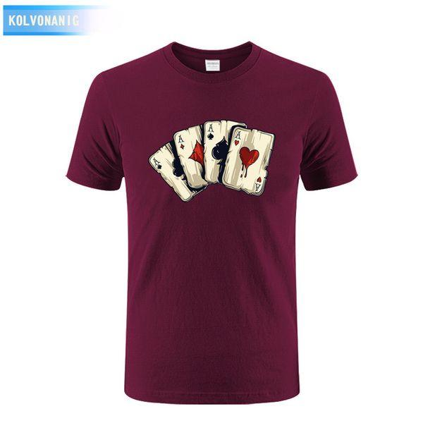 2019 men s designer clothing tshirt New Summer Dress Men's T Shirt Poker Playing Cards Four A Anime 3D Printed T-Shirt Tee Shirt