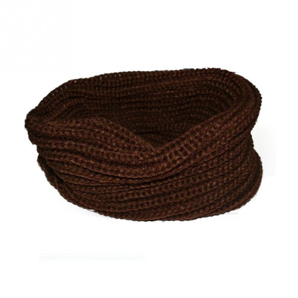 Autumn and Winter Fashion Korean scarf Warm Knit Neck Circle Wool Blend Cowl Snood Ring Scarves Scarf Shawl Wrap for Men/Women