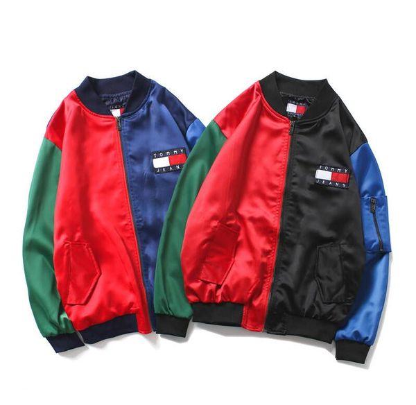 Mens Designer Jackets personality stitching West Denim Jacket Fashion Men Clothing Tomy pilot jean Jackets Letter Printed Camouflage coat