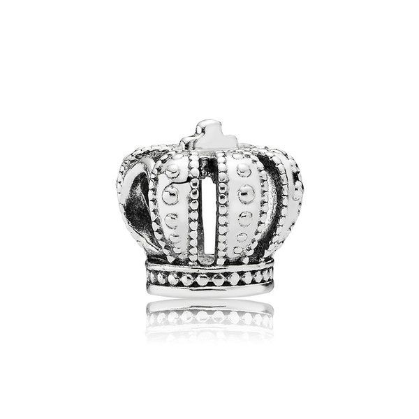 Classical 925 Sterling Silver Crown Charm Set Original Box for Pandora DIY Bracelet European Beads Charms Jewelry accessories