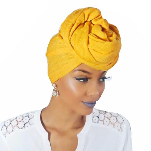 Fashion Women Big Flower Turban Wedding Party Beanie Elegante Cap Head Wrap Stretch Capelli lunghi foulard foulard Turbante Tie