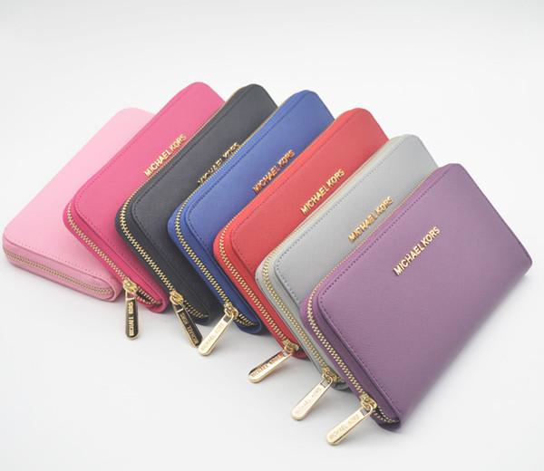 Top Brand New Design Lady m portafoglio singola cerniera di moda lungo portafoglio in pelle Uomini carta di credito borse Portafogli Borse donna regalo all'ingrosso k