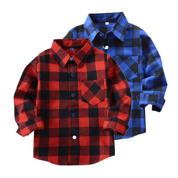 top popular Brand New Kids Shirt Toddler Infant Baby Boys Girls Classic Tops Shirt Long Sleeves Shirt Autumn Children Casual Clothes 3-11T 2021