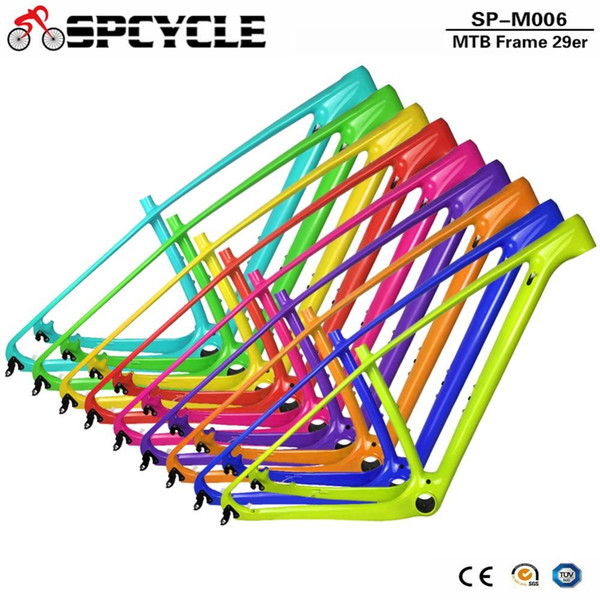 Spcycle 2018 New T1000 Carbon Mtb Frame 29er Carbon Mountain Bike Frame 142*12 Thru Axle or 135*9mm QR Bicycle