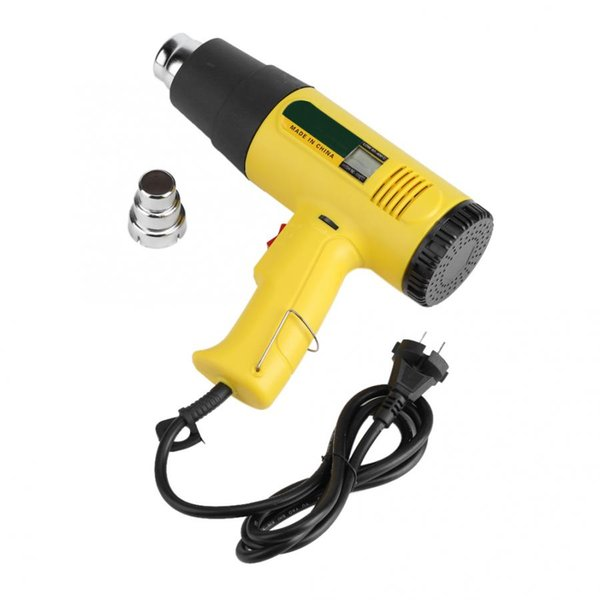 AC 220V 2000W Soplador de pistola de calor de aire caliente eléctrico Viento caliente / frío Volumen de aire ajustable
