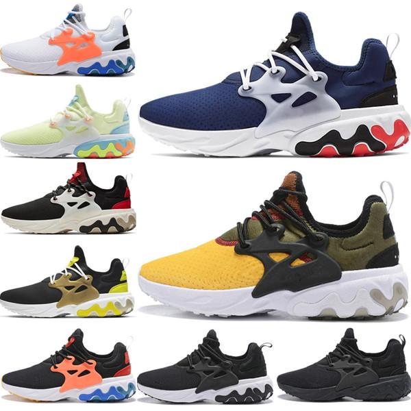 Compre Nike Air Presto React Venta Al Por Mayor React Presto Zapatos Para Correr Triple Negro Amarillo Negro Azul Brutal Honey Breezy Jueves Rabid