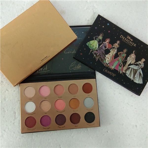 Colorpop Brand Makeup Paleta ColorPop Colecção de design 15 cores Paleta de sombras Glitte Matte Shimmer paleta de sombras