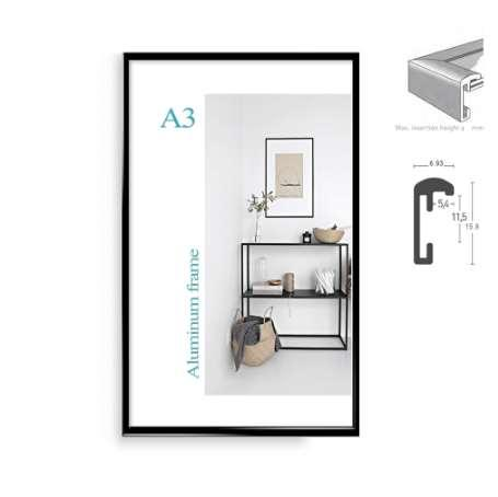 Klasik minimalist alüminyum 8.5x11
