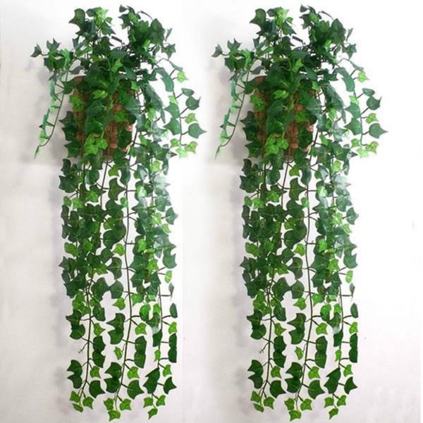 2pcs/lot 2.4M Home Decor Artificial Ivy Leaf Garland Plants Vine Fake Foliage Flowers Creeper Green Ivy Wreath