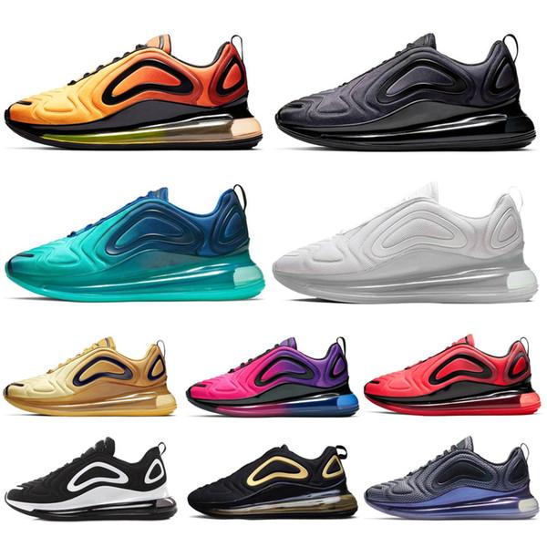 Shoes Full Cushioned Men Women Neon Triple Black Carbon Grey Sunset Metallic Silver Chaussures Shoes EUR Size 36-45