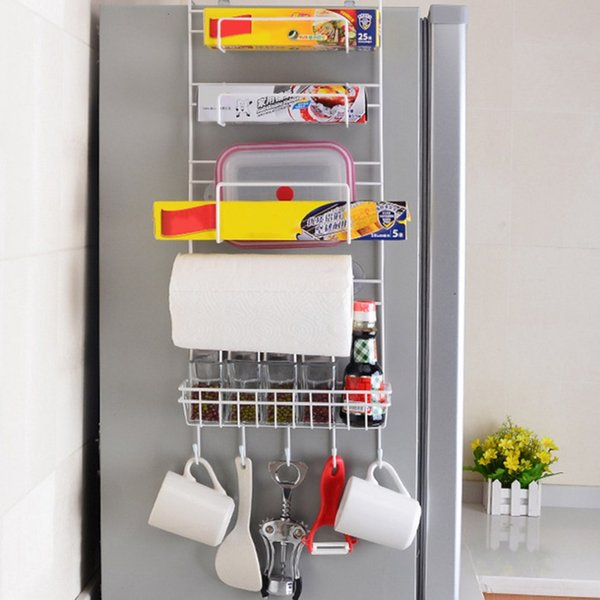 Multi-layer Fridge Storage Refrigerator Rack Side Shelf Sidewall Holder Multifunctional Kitchen Supplies Organizer Household SH190918