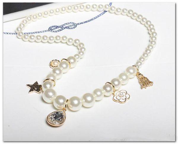 Bambini perle collana per bambini fiori stella strass nappa gioielli ciondolo bambini accessori principessa boutique collana ragazze
