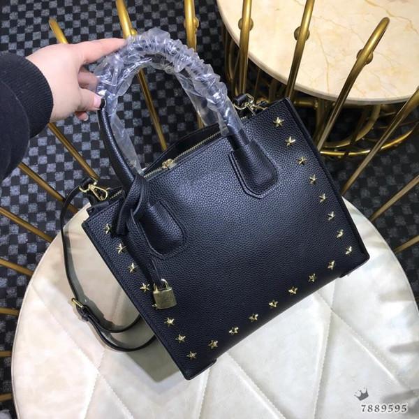 Designer de bolsa de ombro marca saco das mulheres rebite decoração design de alta qualidade das mulheres saco de 27 * 23 * 13 CM designer bolsa