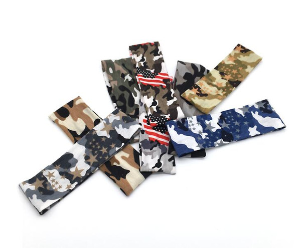 outdoor camo sports head bands yoga fitness Hair Bands bike riding head wraps turban baseball softball headband hair bans accessaries