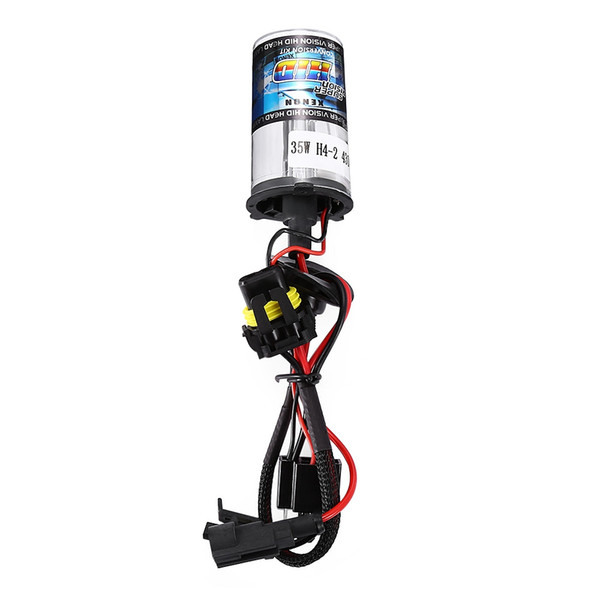 Pair of 12V 35W H4 - 2 Car Headlight Xenon Super Vision HID Lamp Bulb