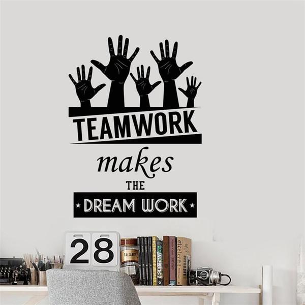 office inspirational words teamwork makes the dream work