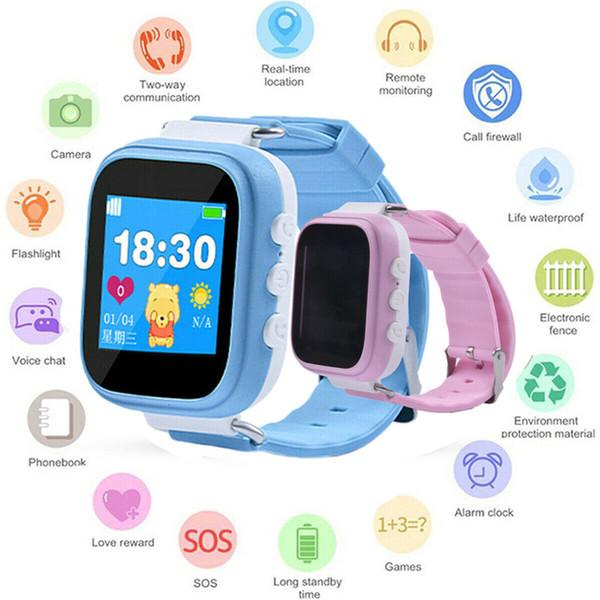 어린이 스마트 시계와 GPS GSM 로케이터 추적기 SOS 호출 심 양방향 통신 스마트 폰 시계 선물 키즈 어린이