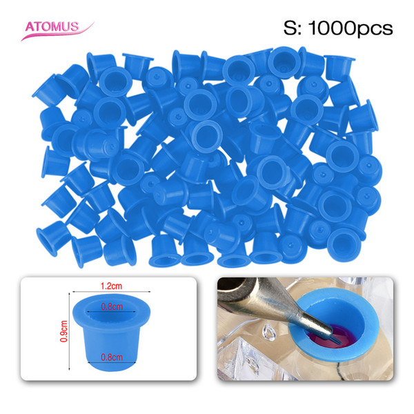 1000pcs S Size Tattoo Ink Cup Pigment Holder Plastic Caps Body Art Tattoo Supply Holder Plastic Caps Body Art Tattoo Supply