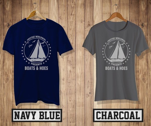 Step Brothers Boats and Hoes T-Shirt Men's/Women's Navy&Charcoal Tee NewFunny free shipping Unisex Casual Tshirt top