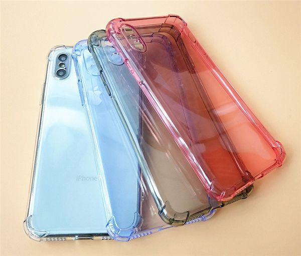 Funda de teléfono celular TPU transparente ultra-delgada para iPhone Xs-Max 6/7 / 8plus / XR 0.8mm 1mm 1.5mm Airbag grueso Funda anti-caída